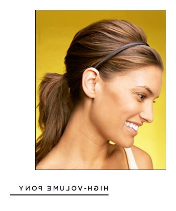 Easy Hairstyles For Long Hair: High Volume Pony, 17 Throughout High Volume Donut Bun Updo Hairstyles (View 25 of 25)