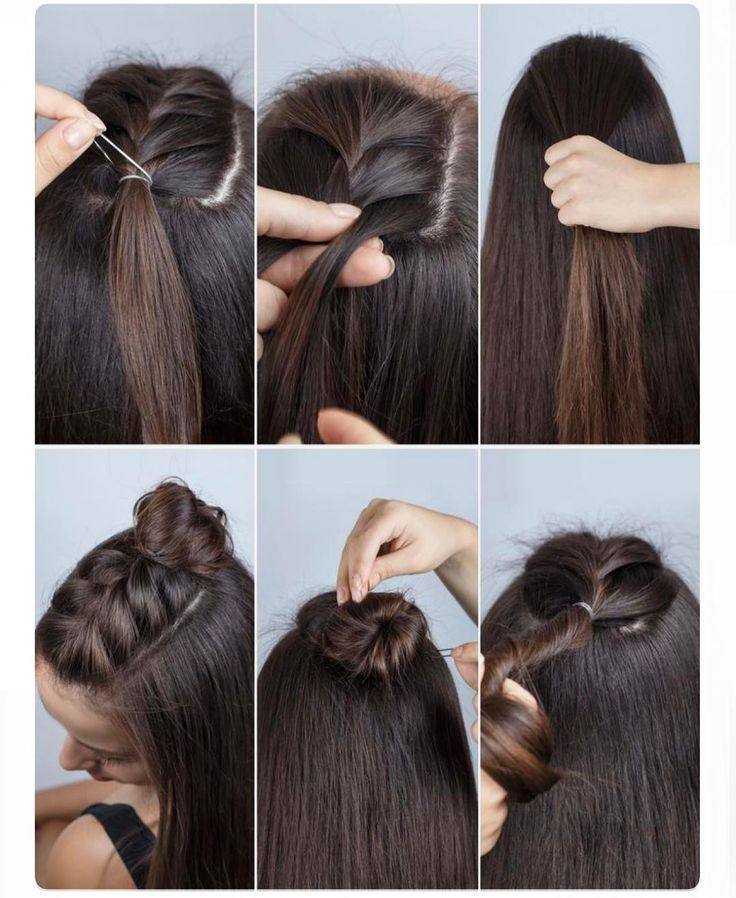 Easy How To Braid With Mini Topknot | ~Hair~ | Long Hair For Topknot Hairstyles With Mini Braid (View 3 of 25)