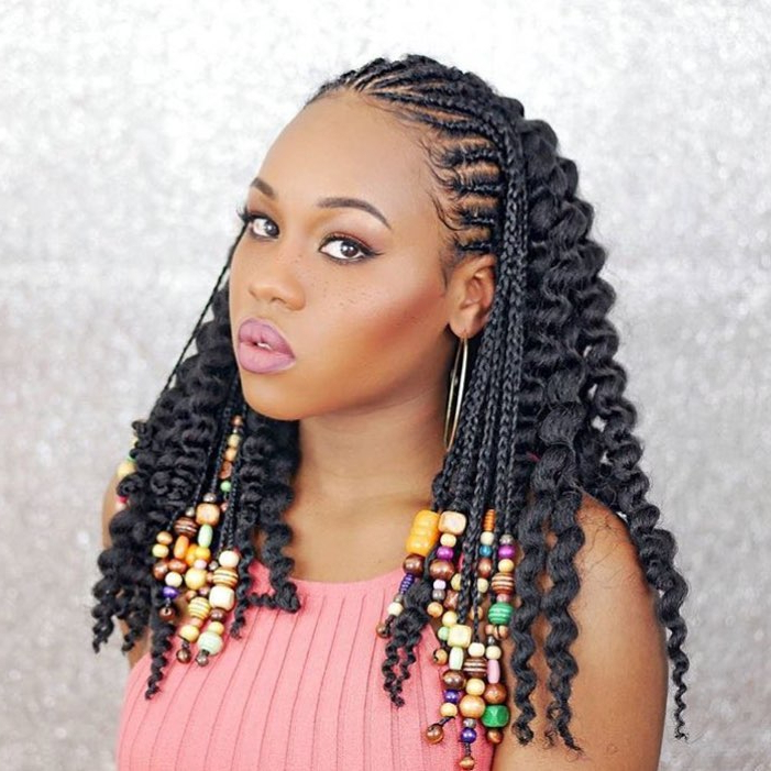 Easy Natural Hairstyles For Black Women On Stylevore Regarding Current Side Swept Carousel Braided Hairstyles (View 15 of 25)