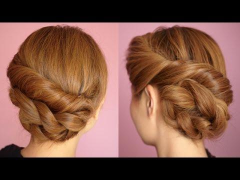 Easy Twisted Rope Braid Hair Tutorial Pertaining To Twisted Rope Braid Updo Hairstyles (View 6 of 25)