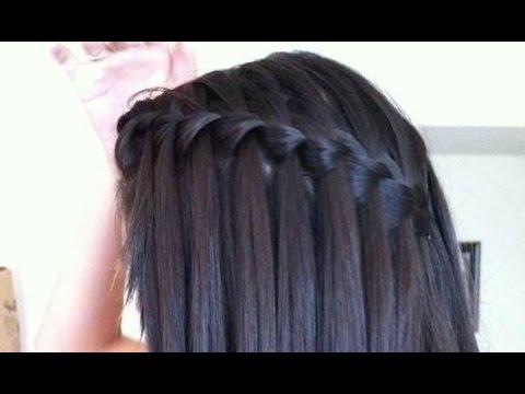 Easy Waterfall Braid Hair Tutorial : For Straight& Curly Hair Inside Waterfall Braids Hairstyles (View 15 of 25)