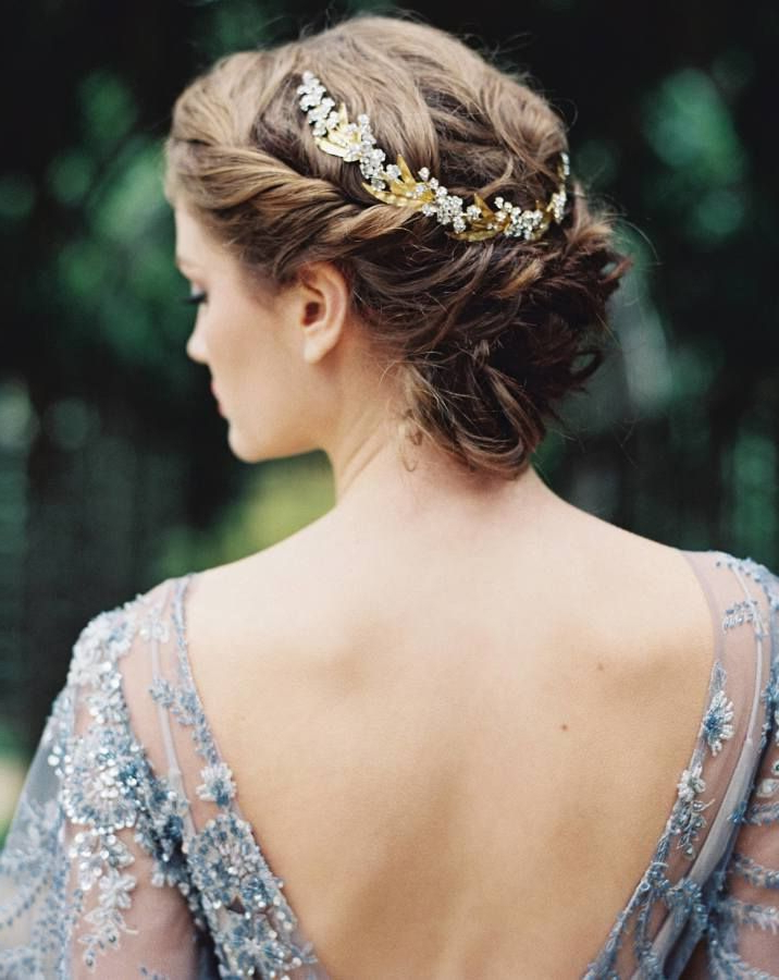 Elegant And Ethereal Bridal Session | Bridal Hairstyles Throughout Ethereal Updo Hairstyles With Headband (View 9 of 25)