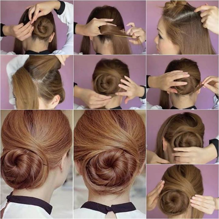 Elegant Twisted Hair Bun Hairstyle! Unique Swirl Like Updo With Swirl Bun Updo Hairstyles (View 8 of 25)