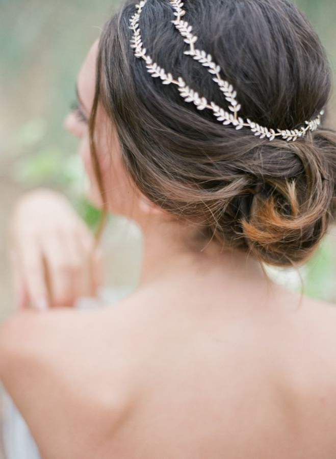 Ethereal Greek Goddess Inspired Wedding Editorial | Wedding Throughout Ethereal Updo Hairstyles With Headband (View 5 of 25)
