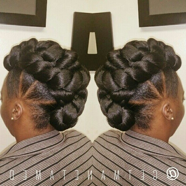 Faux Hawk/ Faux Bun/ Mohawk. Protective Style. Follow Me On in Twisted Faux Hawk Updo Hairstyles