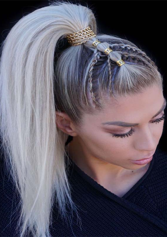Favorite High Ponytail Braided Hairstyles For Women 2019 Intended For Best And Newest High Ponytail Braided Hairstyles (View 6 of 25)