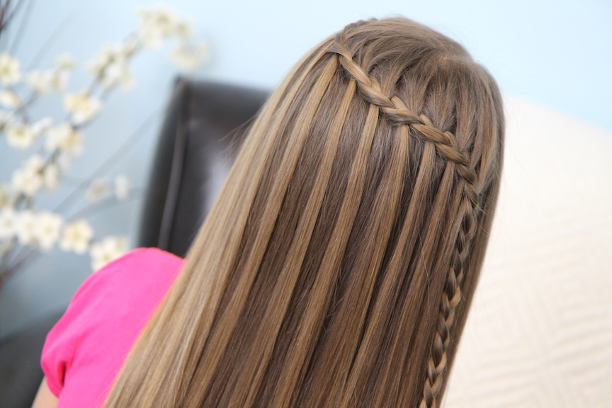 Feather Waterfall & Ladder Braid Combo | 2 In 1 Hairstyles With Regard To Waterfall Braids Hairstyles (View 19 of 25)