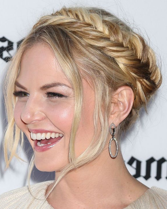 Featured Photo of Halo Braided Hairstyles With Long Tendrils