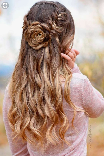 Fishtail Braid Into Flower Bun For Long Hair For Prom Within Floral Bun Updo Hairstyles (View 10 of 25)
