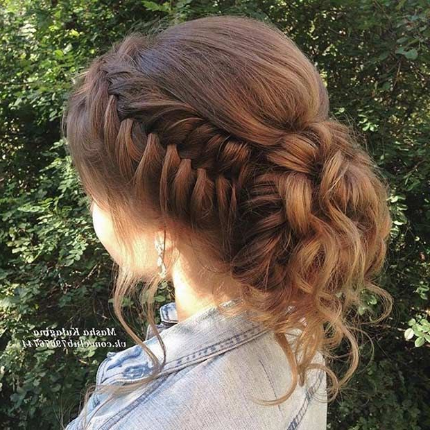 Fishtail Braid To A Bun Updon | Hair Styles In 2019 | Prom Within Teased Fishtail Bun Updo Hairstyles (View 11 of 25)
