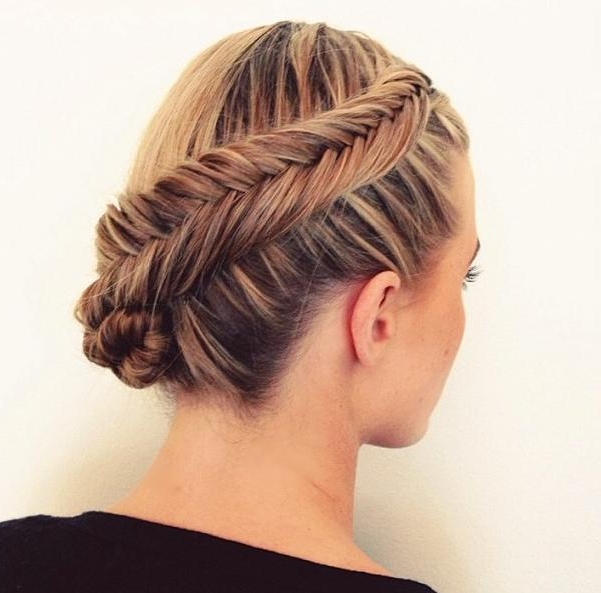 Fishtail Braid Updo | Hairstyles How To With Fishtail Braid Updo Hairstyles (View 15 of 25)