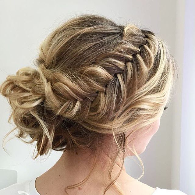 Featured Photo of Fishtail Braid Updo Hairstyles