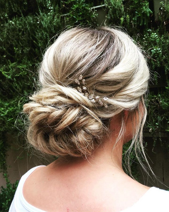 Fishtail Braided Updo Wedding Hairstyle,bridal Updo Hairstyles Within Fishtail Braid Updo Hairstyles (View 14 of 25)