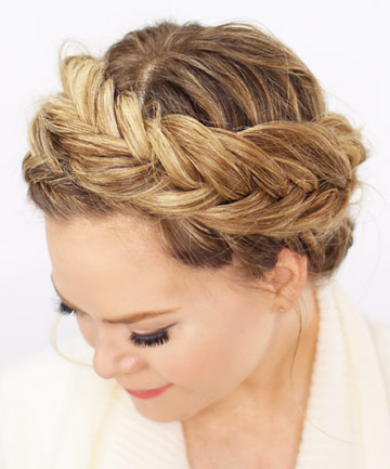 Fishtail Crown Braid, 17 Impossibly Pretty Braids You Need pertaining to Most Current Fishtail Crown Braided Hairstyles