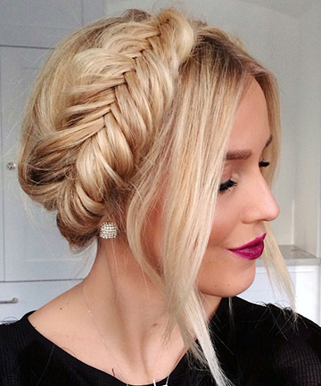 Fishtail Crown Braid, 17 Ridiculously Pretty Ways To Wear in Recent Fishtail Crown Braided Hairstyles