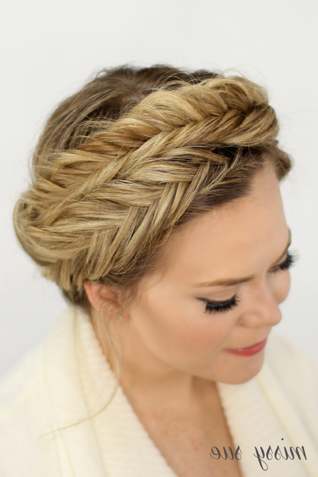 Fishtail Crown Braid with Best and Newest Fishtail Crown Braided Hairstyles