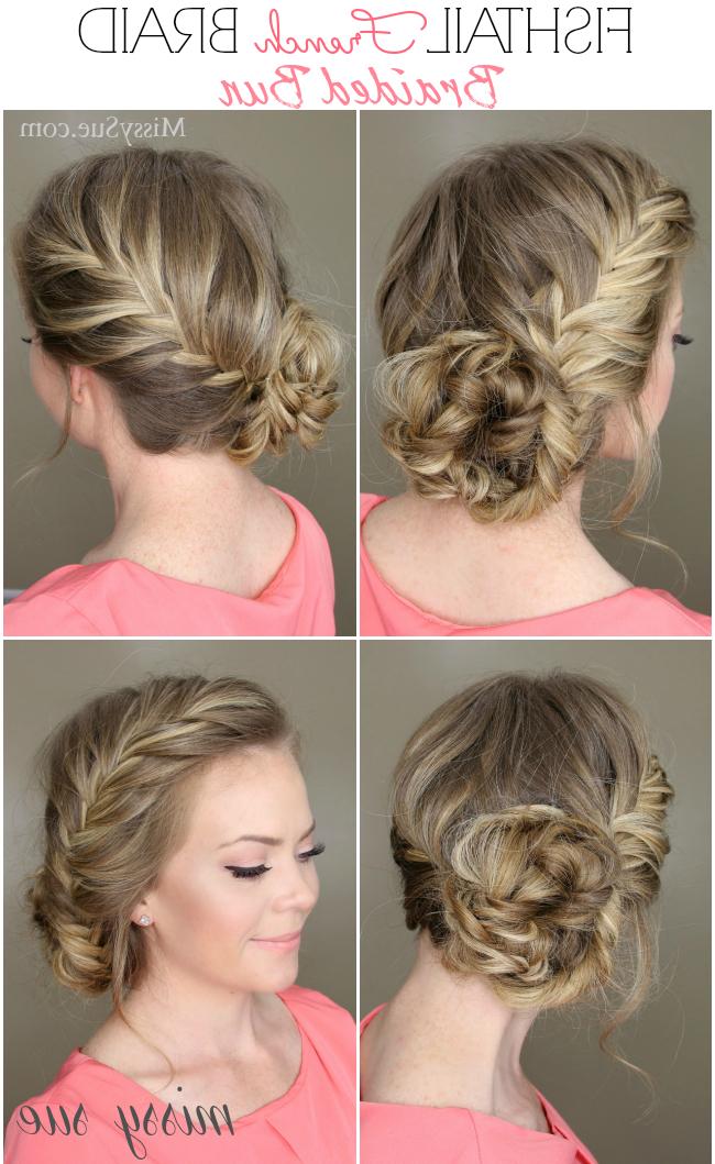 Fishtail French Braid Braided Bun | Hair Tutorials | Hair Regarding Current Braided Chignon Hairstyles (View 17 of 25)