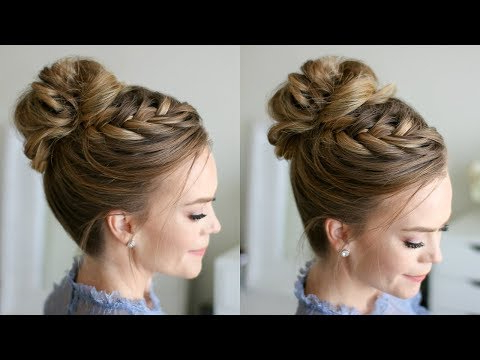 Fishtail French Braid High Bun | Missy Sue – Youtube Within High Bun Hairstyles With Braid (View 19 of 25)