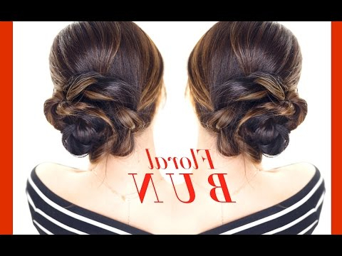 Floral Side Bun Hairstyle ?? Easy Holiday Updo Hairstyles For Floral Bun Updo Hairstyles (View 11 of 25)