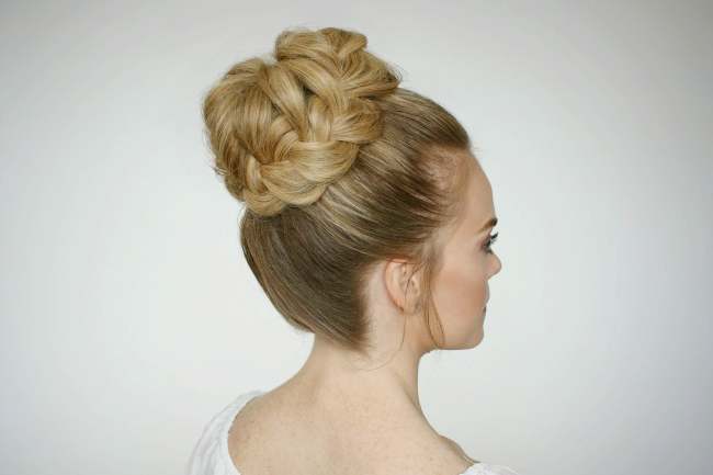 French Braid High Bun | Missy Sue Pertaining To High Bun Hairstyles With Braid (View 24 of 25)