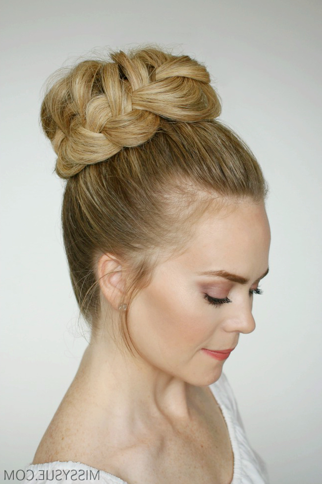 French Braid High Bun | Missy Sue Throughout High Bun Hairstyles With Braid (View 17 of 25)
