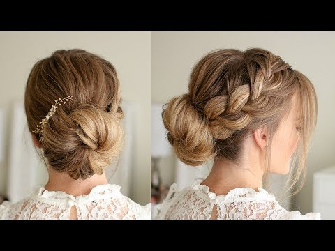 French Braid Low Bun | Missy Sue - Youtube with Latest French Braid Low Chignon Hairstyles