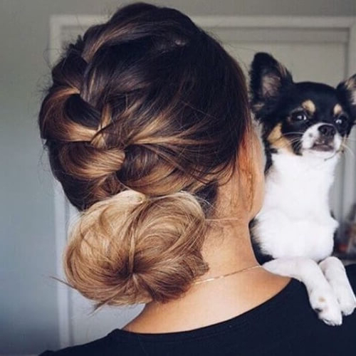 French Braid Madness: 50 Hairstyles To Try Out | Hair Motive for Most Recently French Braid Low Chignon Hairstyles