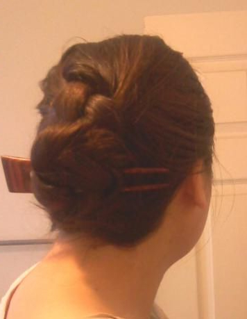 French Braided Cinnamon Bun Held With A 60Th Street Jeni with regard to Recent Cinnamon Bun Braided Hairstyles