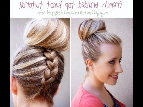 French Braided Top Knot / Dutch Braided Top Knot Regarding Most Popular Braided Top Knot Hairstyles (View 11 of 25)