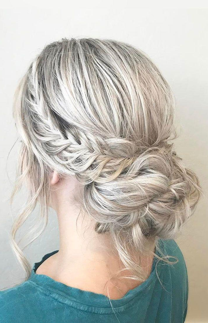 French Crown Braid With Updo Wedding Hairstyle Inspiration With Crown Braid Updo Hairstyles (View 8 of 25)