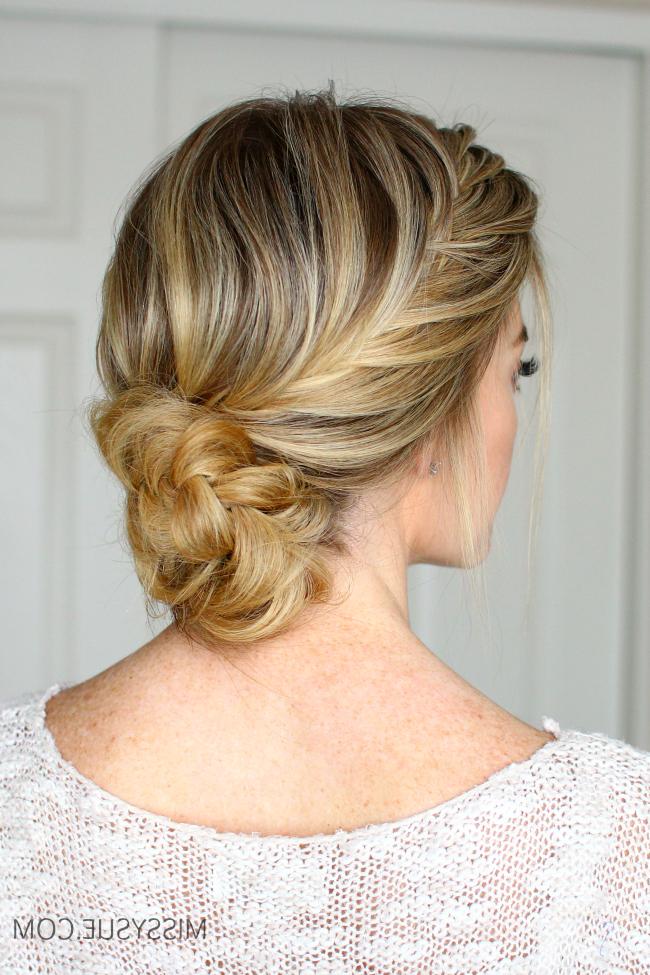 French Fishtail Braid Updo | Missy Sue throughout Criss-Cross Braid Bun Hairstyles