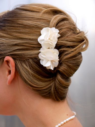 French Twist - Could Use A Pretty Comb Or Flowers For Some regarding Blinged Out Bun Updo Hairstyles