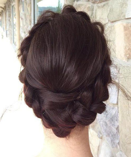 Full Crown Milkmaid Braid. | Prom Hairstyles (View 20 of 25)