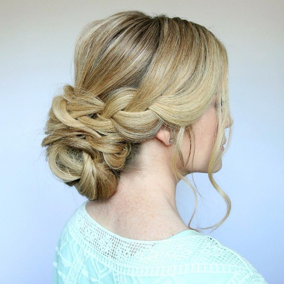 Get A Braided Low Bun For Summertime | Beauty Within Most Current Braided Chignon Bun Hairstyles (View 10 of 25)