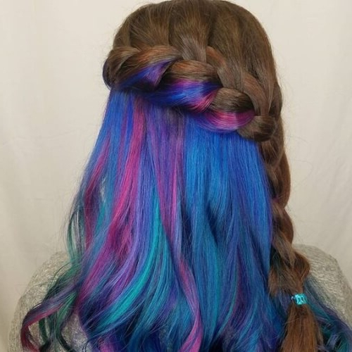 Get Crazy Creative With These 50 Peekaboo Highlights Ideas Regarding Newest Peek A Boo Braided Hairstyles (View 3 of 25)