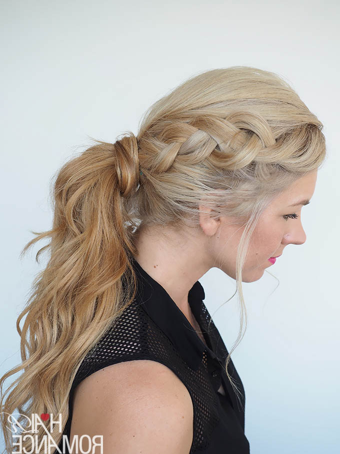 Get Out Of A Hair Rut - Braided Ponytail Hairstyle Tutorial with regard to Romantic Ponytail Updo Hairstyles