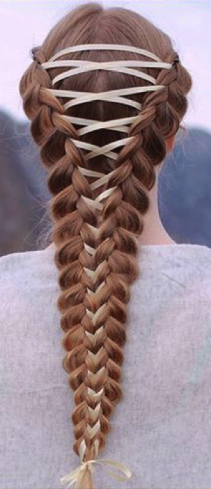 Get The Look: Corset Braids - Great Lengths with regard to Most Recent Corset Braided Hairstyles