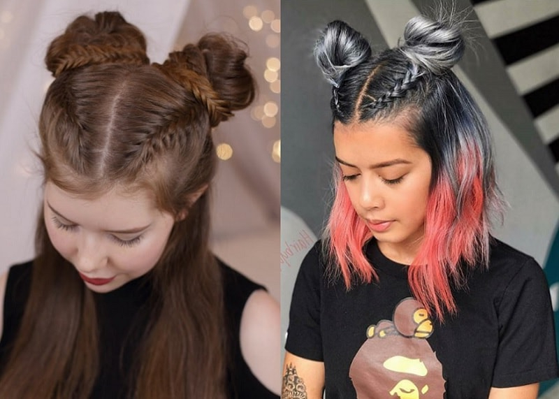 Girls Bun: 15 Fascinating Hairstyles You'll Love Instantly With Braided Space Buns Updo Hairstyles (View 25 of 25)