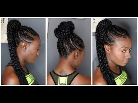 "Goddess Bun With Small And Big Braids""stylesjazae Throughout Newest Big Bun Braided Hairstyles (View 13 of 25)"