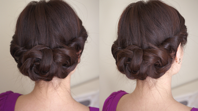 Graceful Twist & Braid Low Chignon For Wedding | Styles Weekly Inside Most Recently Braided Chignon Hairstyles (View 23 of 25)