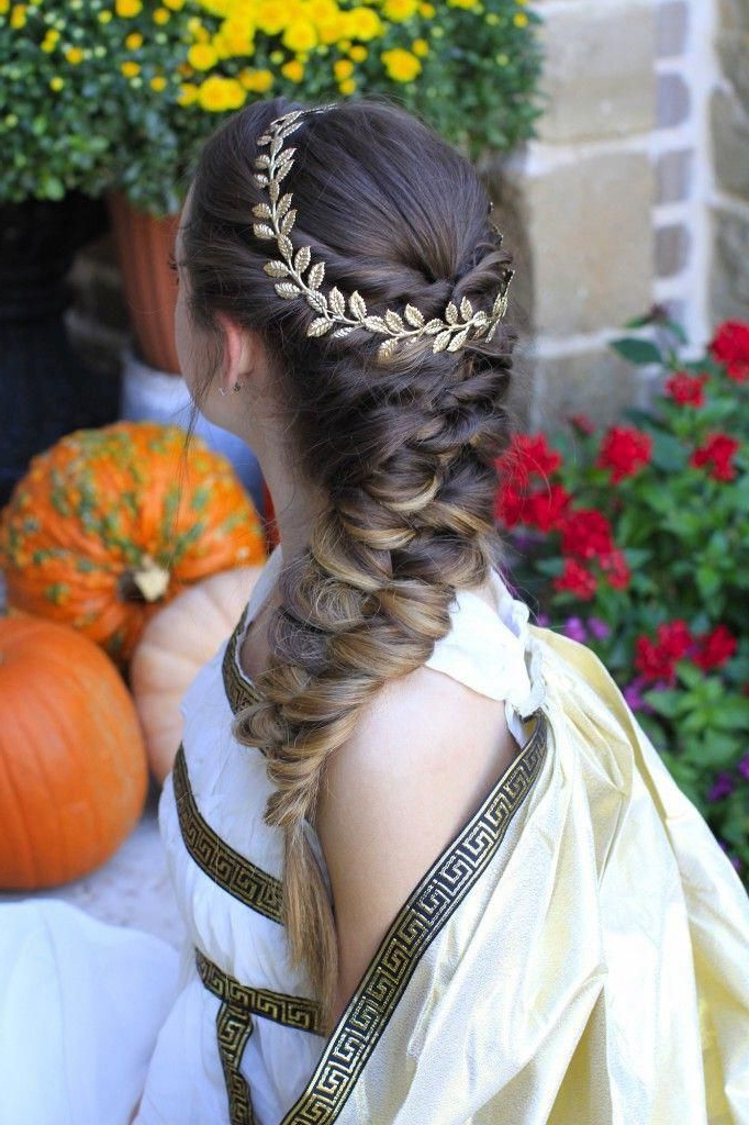 Grecian-Inspired Ponytail Braided Hairstyles For Women intended for Most Up-to-Date Grecian-Inspired Ponytail Braided Hairstyles