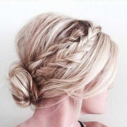 Haar – Low Braided Bun #2870057 – Weddbook Throughout Low Braided Bun Updo Hairstyles (View 12 of 25)