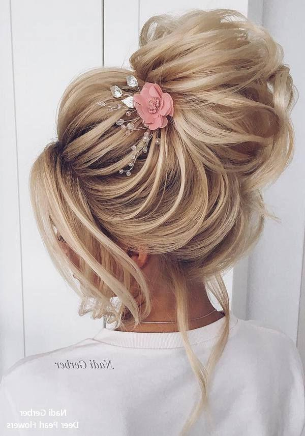 Haar – Top 20 High Bun Wedding Updo Hairstyles #2860960 Inside Pearl Bun Updo Hairstyles (View 17 of 25)