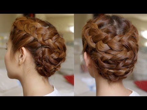 Hair Tutorial: Summer Braided Updo Within Multi Braid Updo Hairstyles (View 12 of 25)