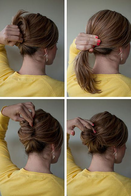 Hairstyle How To: Easy French Roll | Hairstyles | Hair Regarding Simple Pony Updo Hairstyles With A Twist (View 23 of 25)
