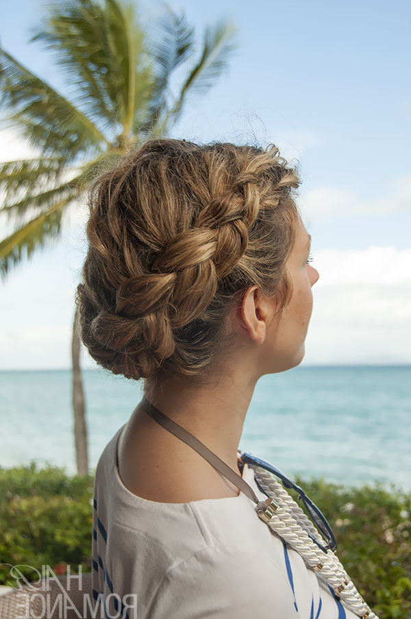 Hairstyle Tutorial – Dutch Side Braid And Bun In Curly Hair Within Dutch Braid Bun Hairstyles (View 17 of 25)