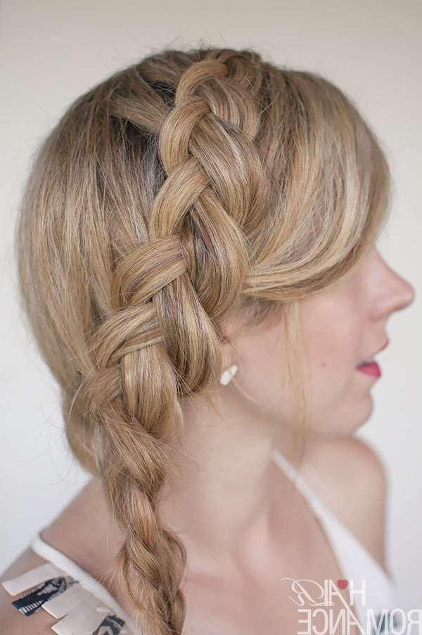 Hairstyle Tutorial – Dutch Side Mermaid Braid – Hair Romance Pertaining To Current Three Strand Long Side Braided Hairstyles (View 3 of 25)