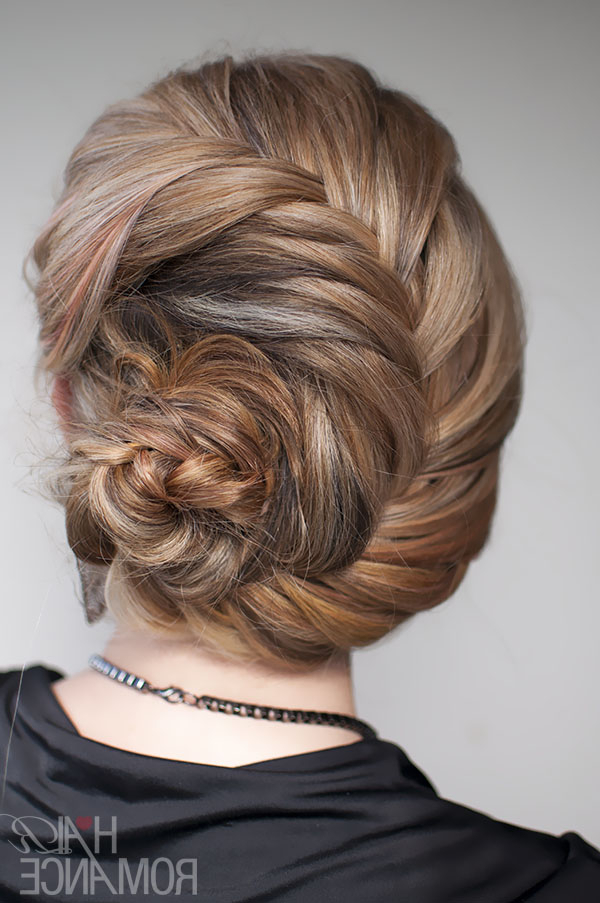 Hairstyle Tutorial – French Fishtail Braid Chignon – Hair For Most Recently Braided Chignon Bun Hairstyles (View 16 of 25)