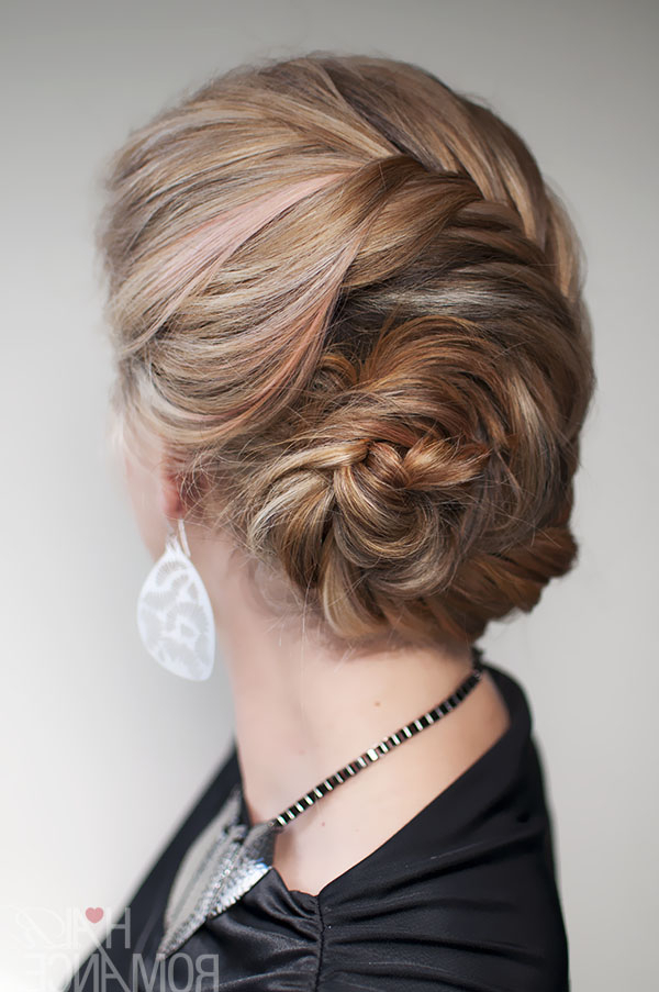 Hairstyle Tutorial – French Fishtail Braid Chignon – Hair In Most Recently Braided Chignon Hairstyles (View 8 of 25)
