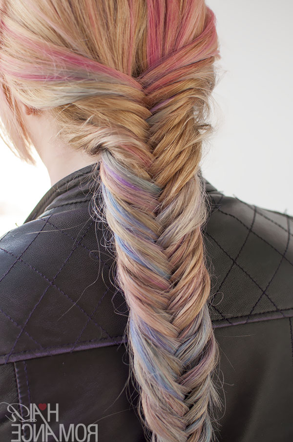 Hairstyle Tutorial: How To Do A Fishtail Braid – Hair Romance Pertaining To Most Recent Ponytail Fishtail Braided Hairstyles (View 21 of 25)